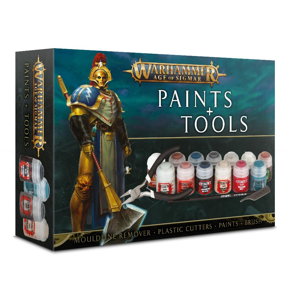 Warhammer Age of Sigmar Paints With Tools