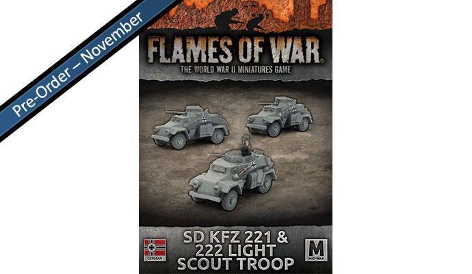 Sd KfZ 221 & 222 Light Scout Troop (x3)