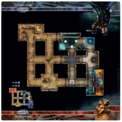 Skirmish Map - Mos Eisley Back Alleys (CASE of 6): Star Wars Imperial Assault