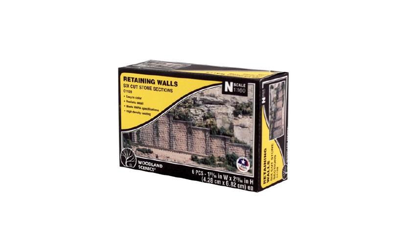 N Cut Stone Retaining Wall Concrete (x6)