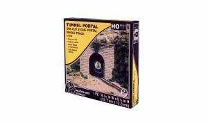 HO Cut Stone Single Tunnel Portal