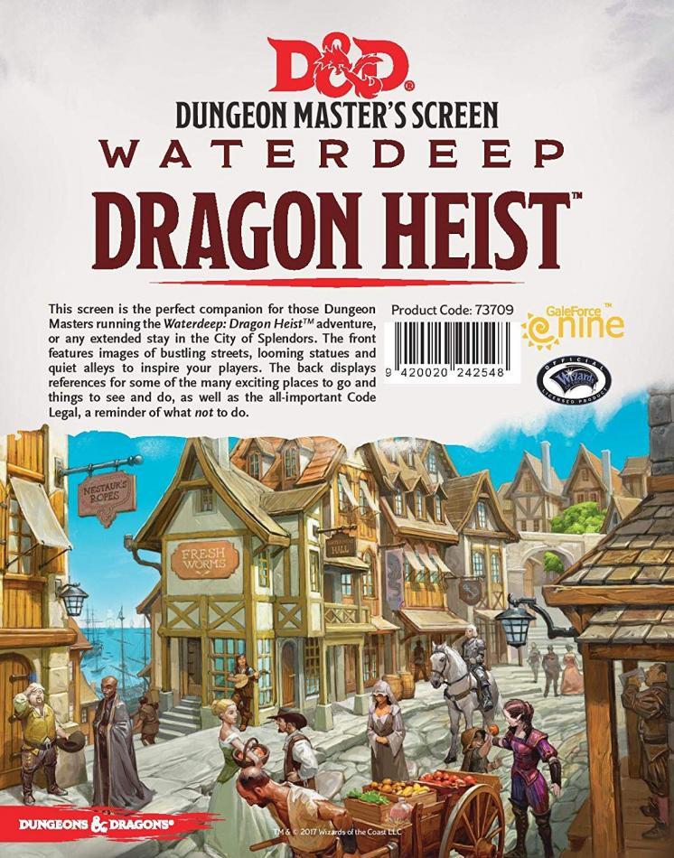 Waterdeep Dragon Heist - DM Screen