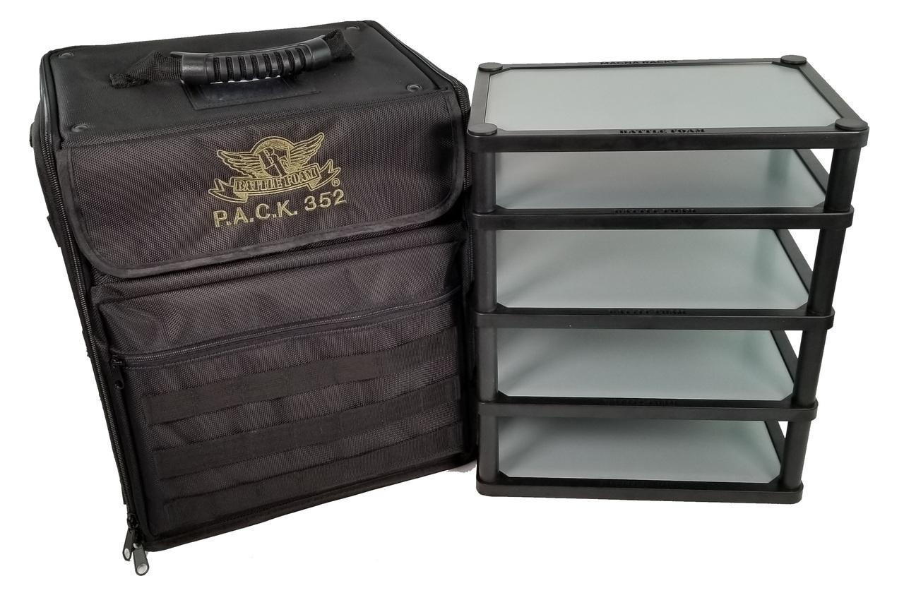 P.A.C.K. 352 Molle with Magna Rack Load Out (Black)