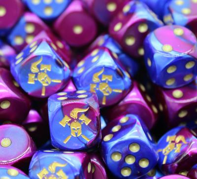 Facehammer Dice Blue-Purple/Gold