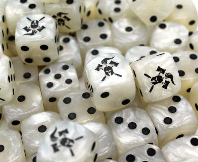 Facehammer Dice White Pearl
