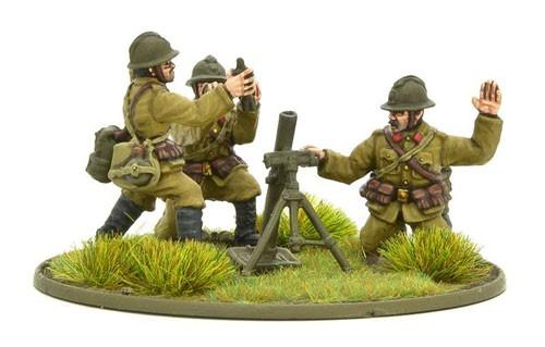 Belgian Army Medium Mortar Team
