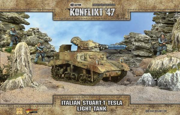 Italian Stuart-T Tesla Tank