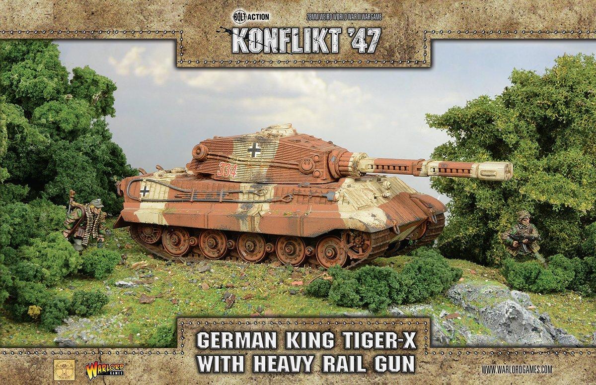 King Tiger-X  with Heavy Rail Gun