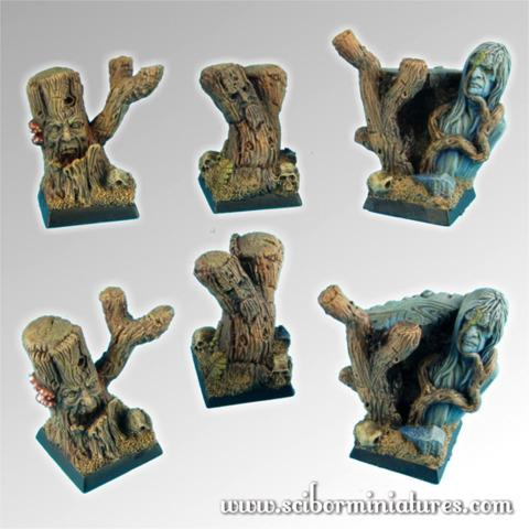 Forest 20mm Square Bases set 1