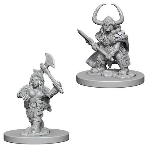 Dwarf Female Barbarian: D&D Nolzur's Marvelous Unpainted Miniatures (W4)
