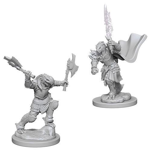 Dragonborn Female Fighter: D&D Nolzur's Marvelous Unpainted Miniatures (W4)