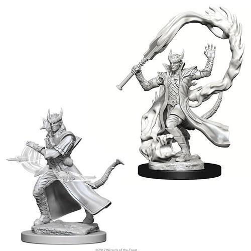 Tiefling Male Sorcerer: D&D Nolzur's Marvelous Unpainted Miniatures (W4)