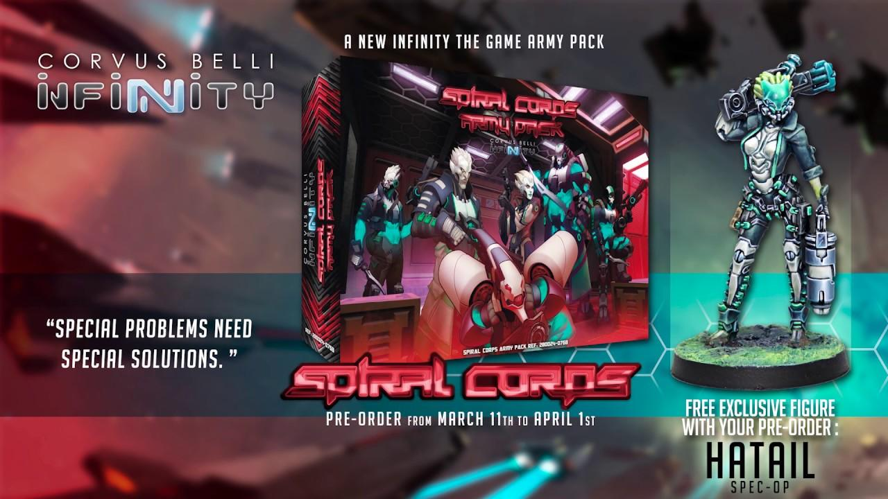 Spiral Corps Army Pack - Including Ltd Ed Hatail Spec-Ops  Model