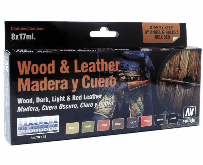 Vallejo Model Color Set - Wood & Leather (x8)