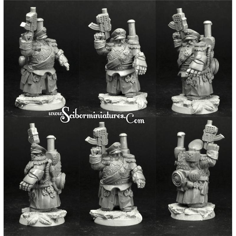 28mm/30mm SF Dwarf Commander #1
