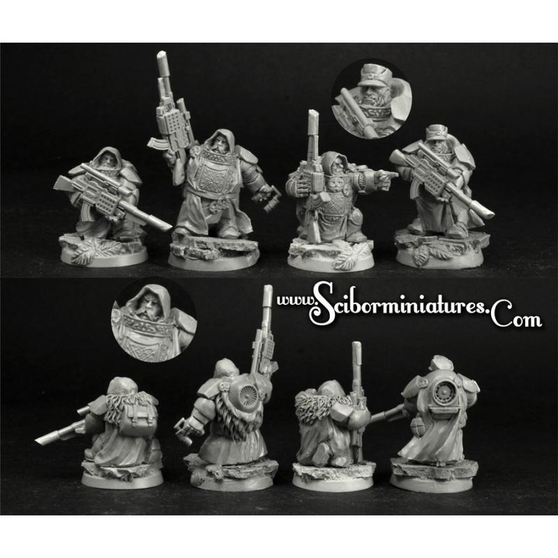 28mm/30mm Dwarves Snipers set (4)