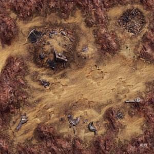 Star Wars: Legion Desert Junkyard Gamemat