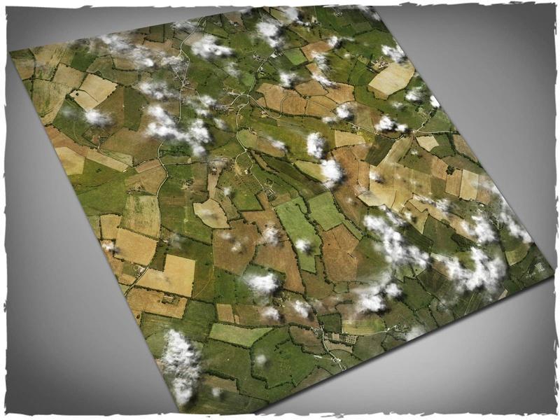 Aerial Fields - 4x4 Mousepad