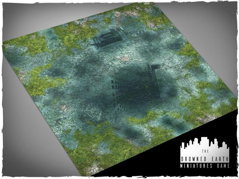 Drowned Earth - 3x3 Mousepad
