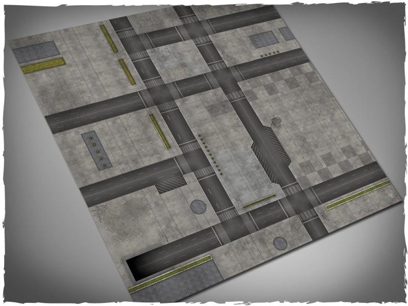 Cityscape (Dropzone) #1 - 4x4 Cloth