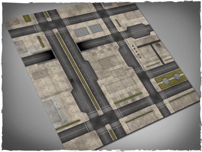 Cityscape (Dropzone) #2 - 4x4 Cloth