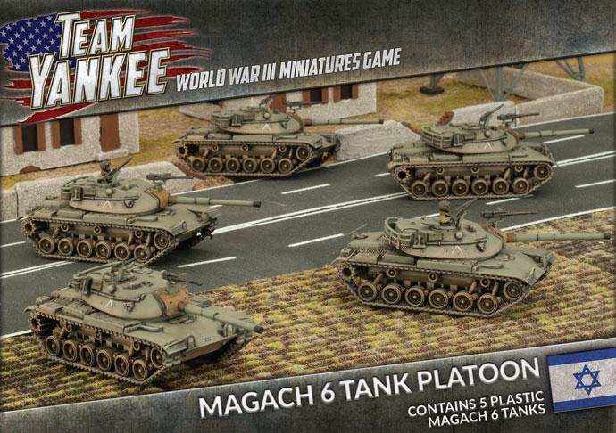 Magach 6 Tank Platoon (x5 Plastic)