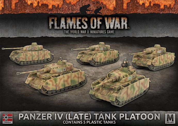 PANZER IV (LATE) PLATOON (x5 plastic tanks with schurzen)