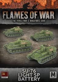 SU-76 LIGHT SP BATTERY (x4 tanks)