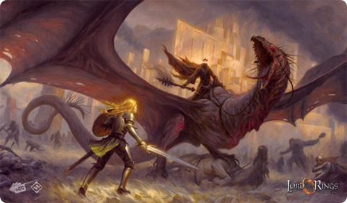 The Flame of the West Playmat: Lord of the Rings LCG