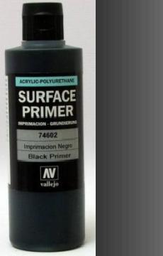 200ml Acrylic Polyurethane Primer 602 - Black