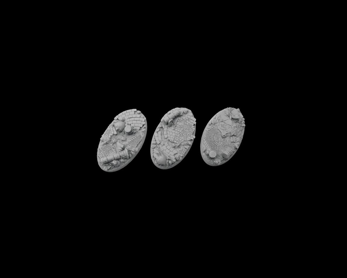 Halodyne Bases, Oval 75mm (2)