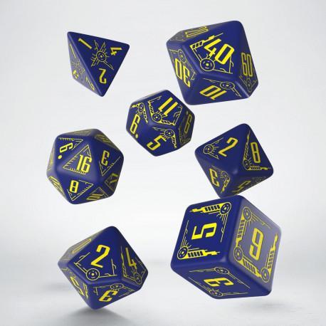 Galactic Navy & Yellow Dice Set (7)