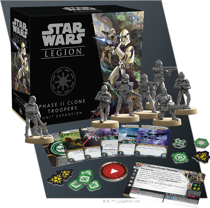 Star Wars: Legion Phase II Clone Troopers Unit Expansion