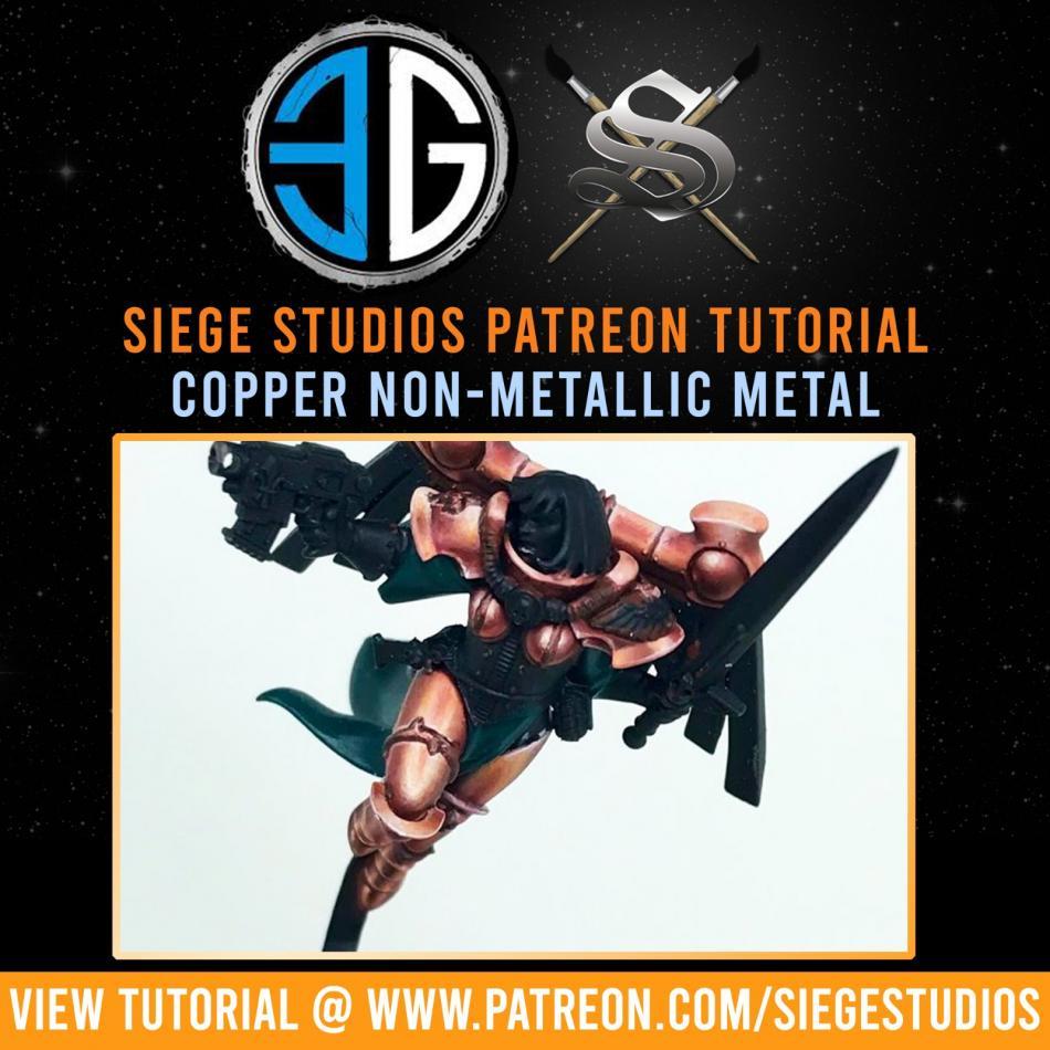 Siege Studios - Copper Non Metallic Metal Paint Bundle