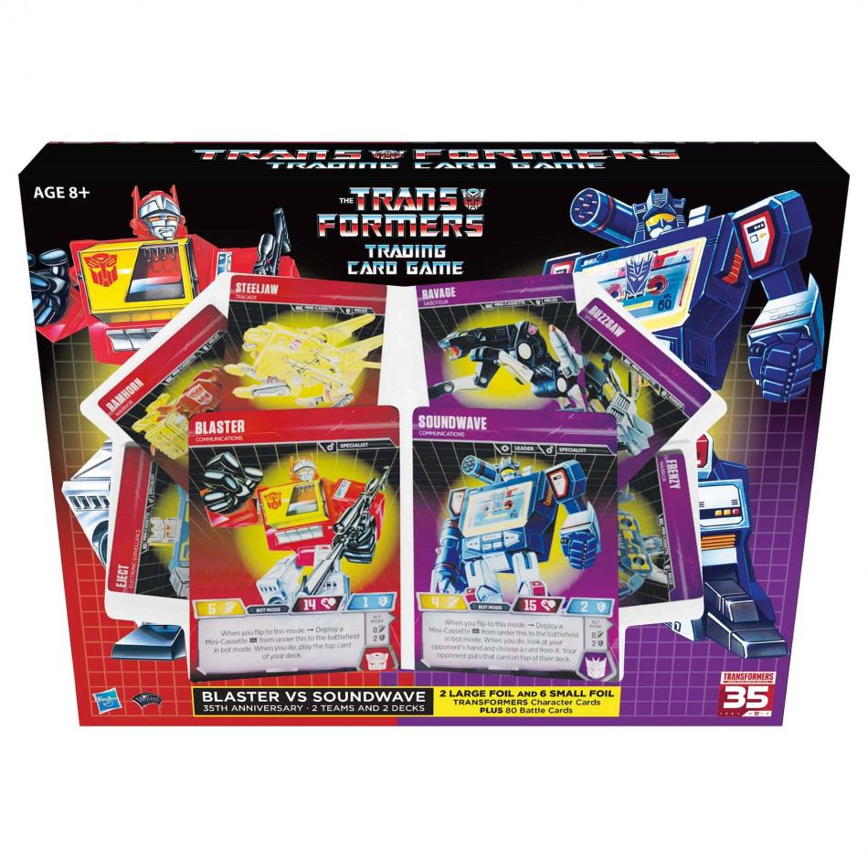 Transformers Trading Card Game Blaster vs Soundwave Deck 35th Anniversary Edition