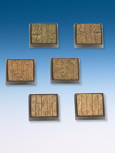 Wooden Plank Base-Set 6 bases