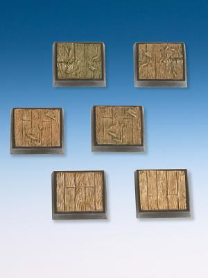 Wooden Plank Base-Set 6 bases