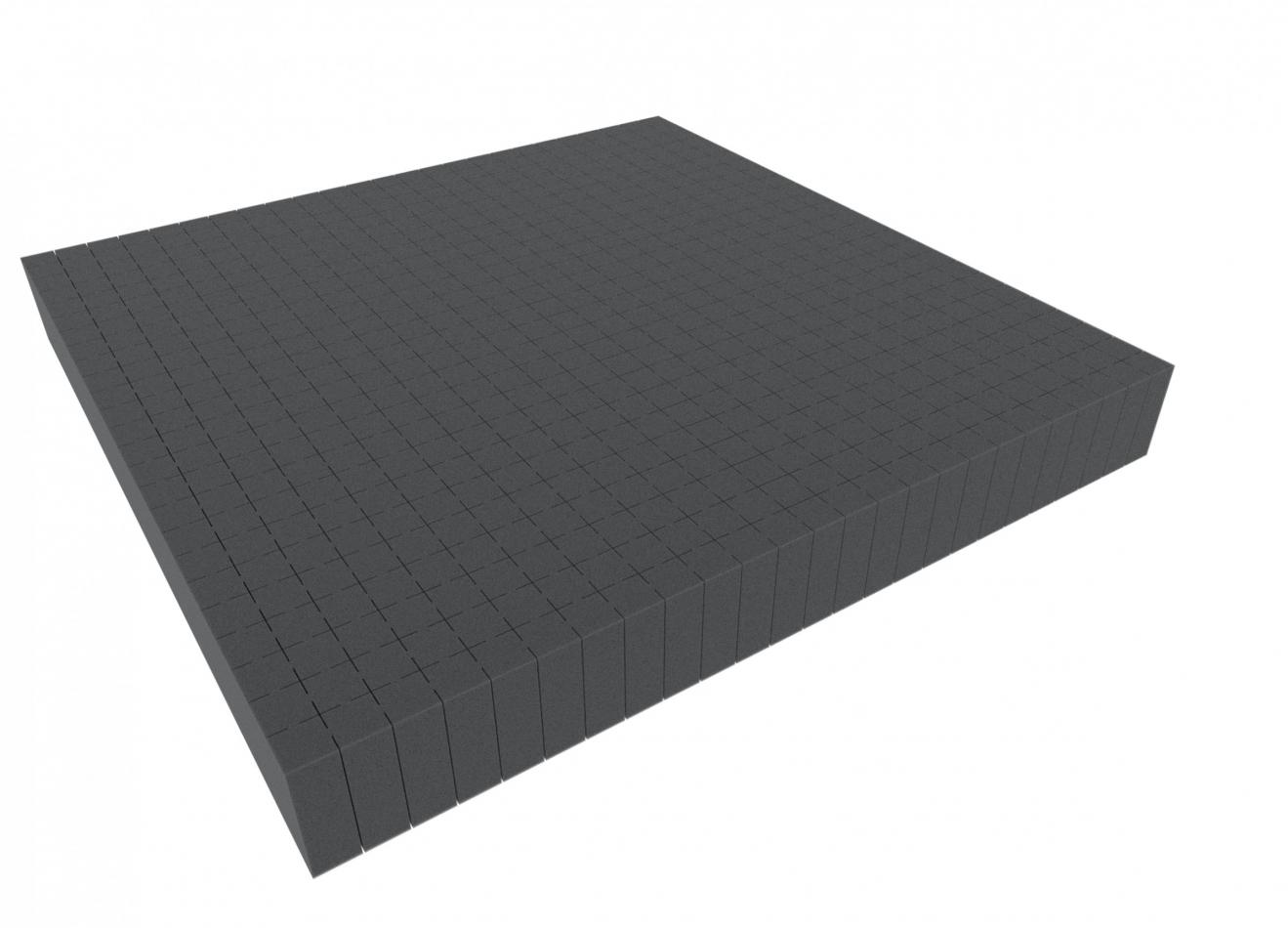 1000 mm x 1000 mm x 60 mm - Raster 20 mm - Pick and Pluck / Pre-Cubed foam tray