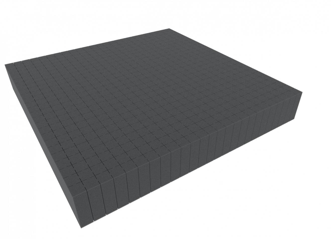 1000 mm x 1000 mm x 70 mm - Raster 20 mm - Pick and Pluck / Pre-Cubed foam tray