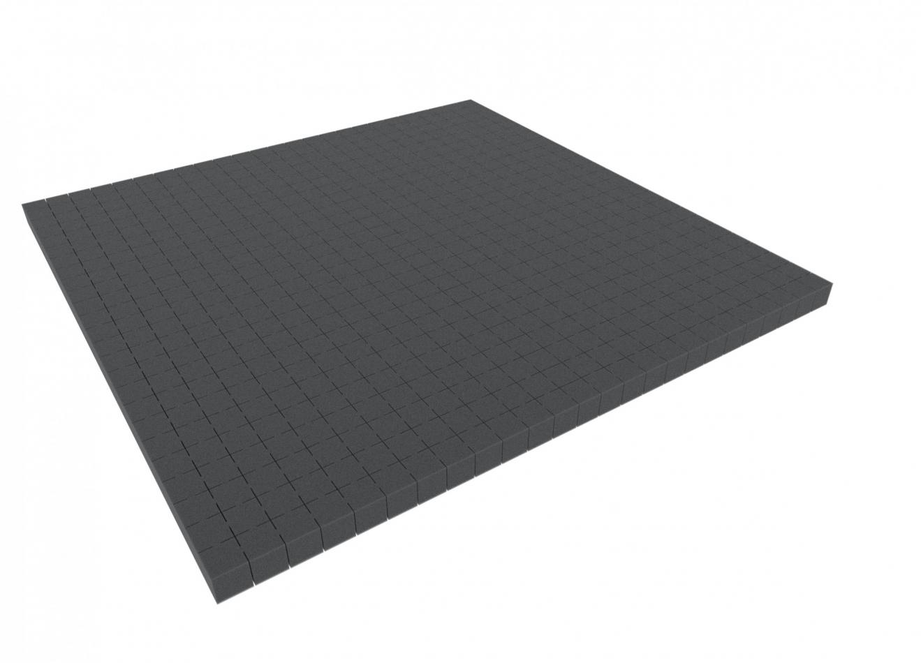 1000 mm x 1000 mm x 20 mm - Raster 20 mm - Pick and Pluck / Pre-Cubed foam tray