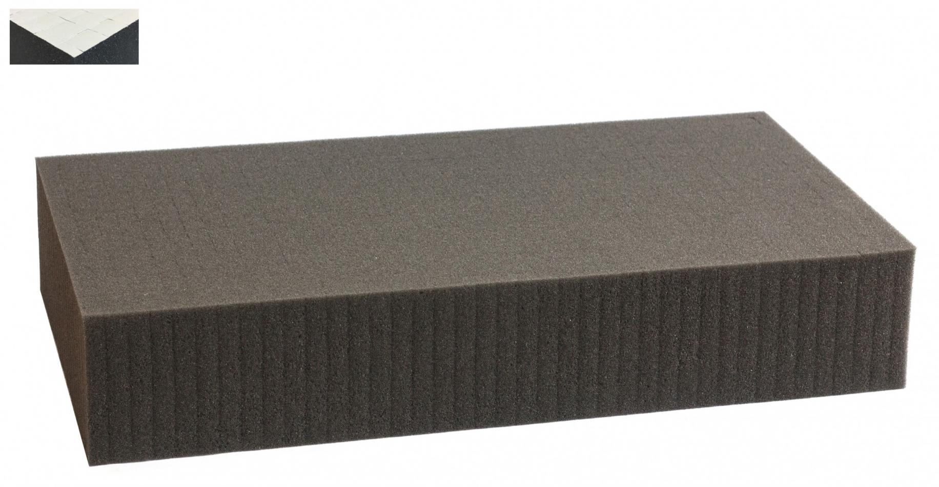 1000 mm x 500 mm x 90 mm self adhesive - Raster 15 mm - Pick and Pluck / Pre-Cubed foam tray