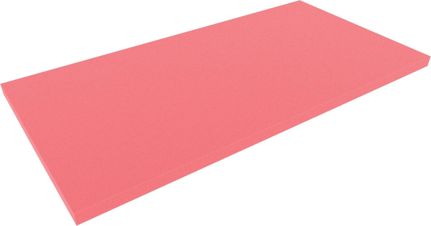 1000 mm x 500 mm x 30 mm foam sheet / cutting, red