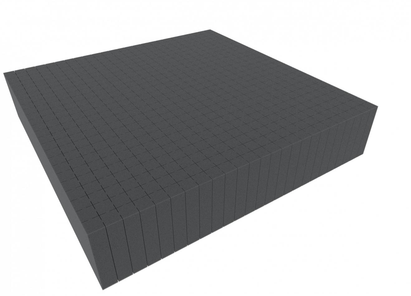 1000 mm x 1000 mm x 100 mm - Raster 20 mm - Pick and Pluck / Pre-Cubed foam tray