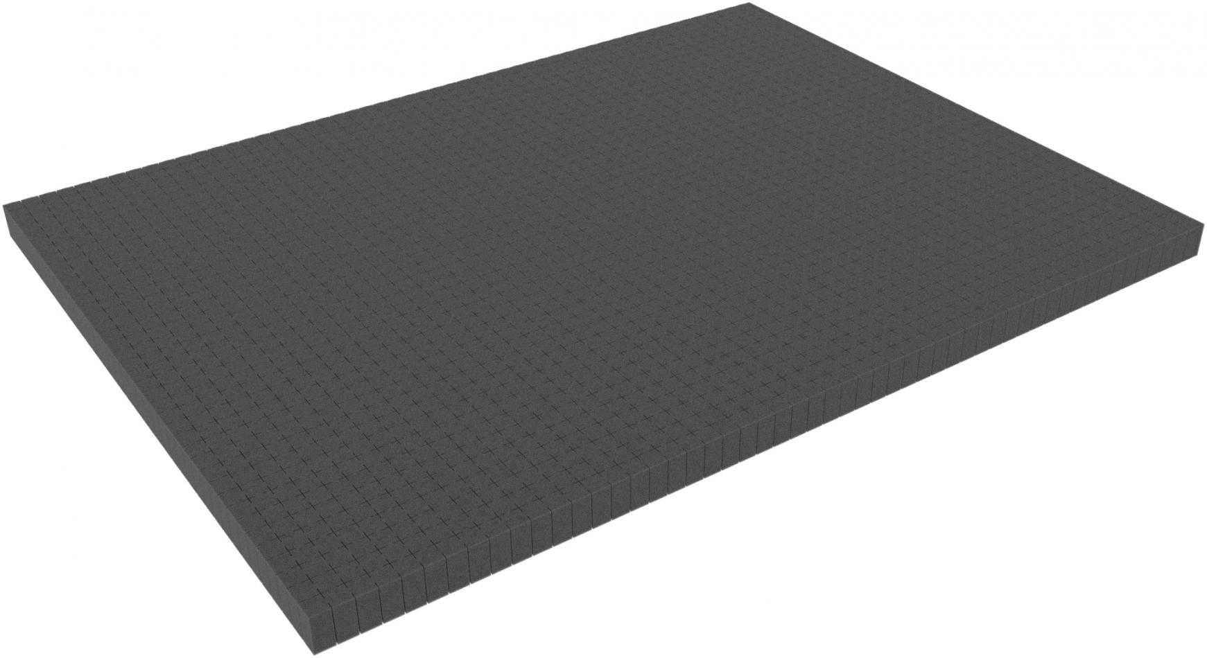 800 mm x 600 mm x 100 mm - Raster 15 mm - Pick and Pluck / Pre-Cubed foam tray