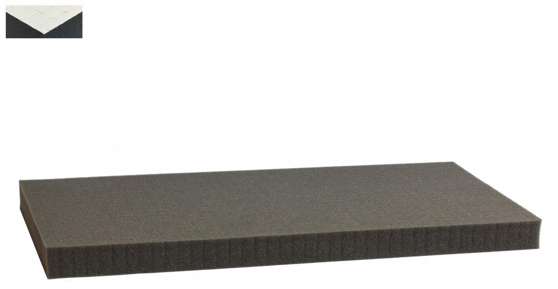 1000 mm x 500 mm x 30 mm self adhesive - Raster 15 mm - Pick and Pluck / Pre-Cubed foam tray