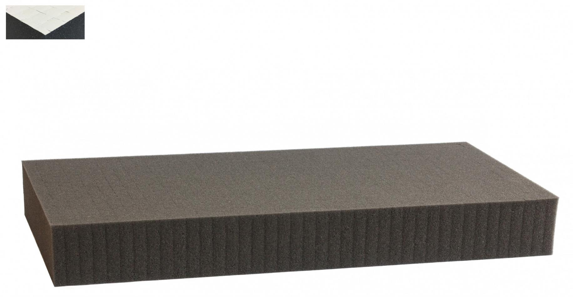 1000 mm x 500 mm x 60 mm self adhesive - Raster 15 mm - Pick and Pluck / Pre-Cubed foam tray