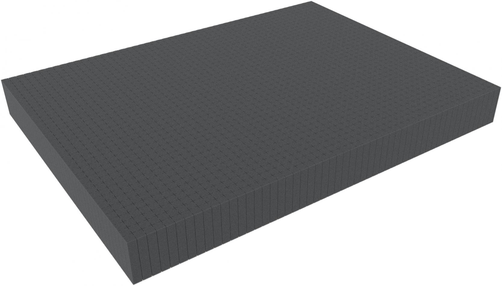800 mm x 600 mm x 80 mm - Raster 15 mm - Pick and Pluck / Pre-Cubed foam tray