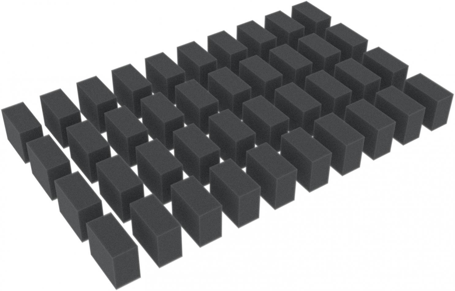 30 spacers / foam blocks / cuboids 30 mm x 25 mm x 15 mm
