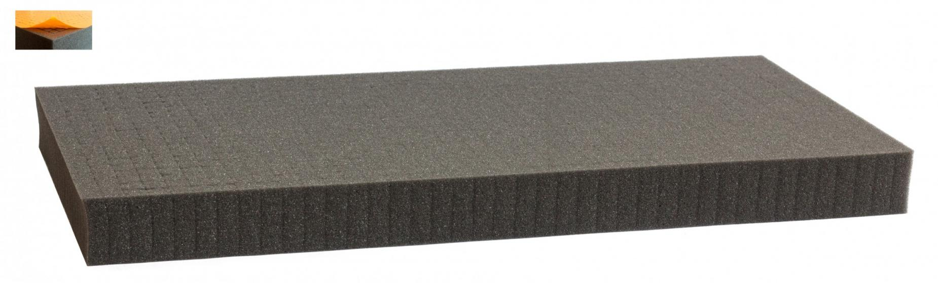 500 mm x 250 mm x 45 mm - Raster 12,5 mm - Pick and Pluck / Pre-Cubed foam tray self-adhesive