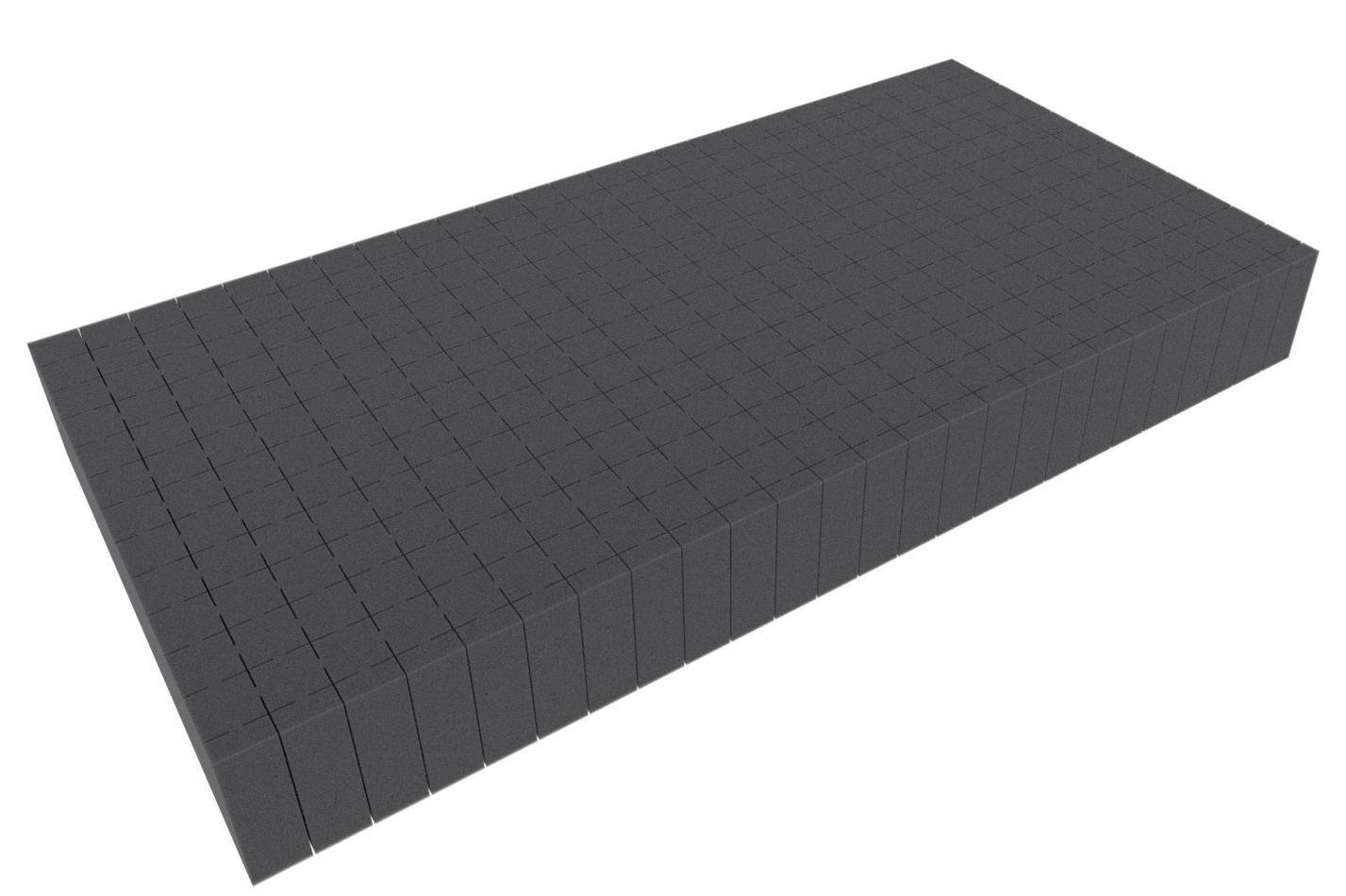 500 mm x 250 mm x 60 mm - Raster 20 mm - Pick and Pluck / Pre-Cubed foam tray